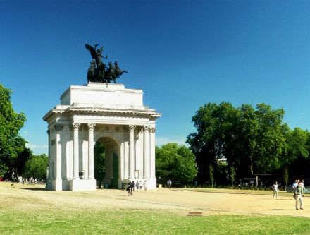 Protesters will assemble at Hyde Park corner [above] at Noon on Sunday.
